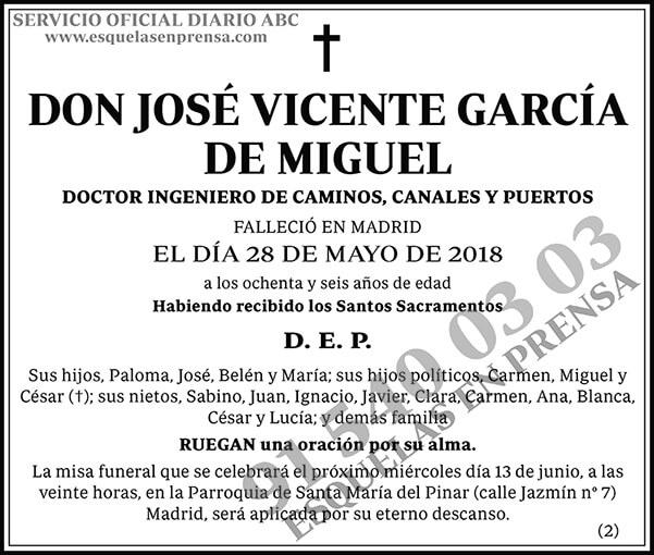 José Vicente García de Miguel